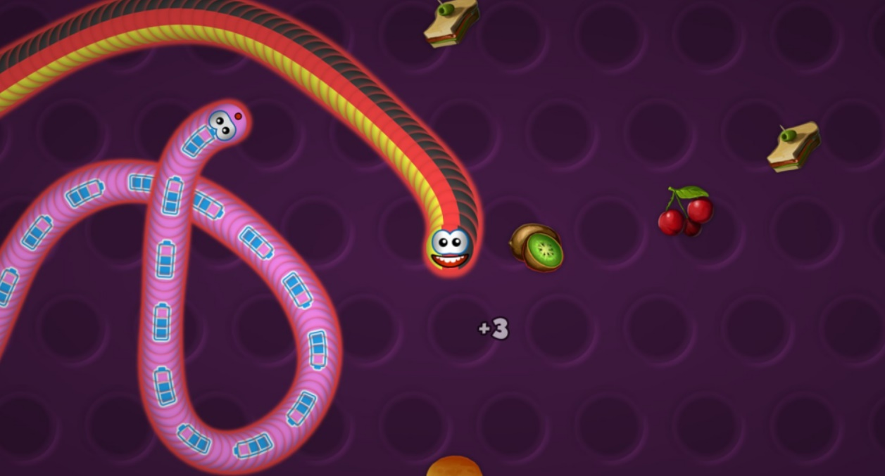 Worm Zone Game Play