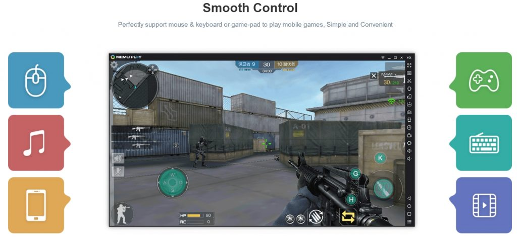 Memu 7 in game demo first person shooter
