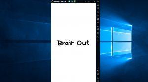 Brain Out running on PC using Memu