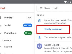 (Fix) Gmail Empty Trash Now and Spam Button Disappear
