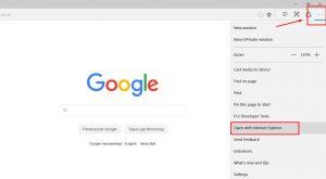 Access Internet Explorer using Microsoft Edge