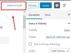 Switch to Draft Post on WordPress and Impact on Google Search Index
