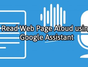Read Aloud Website Page Using Text-to-Speech Feature on Google Assistant