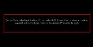 Error message on GTA4